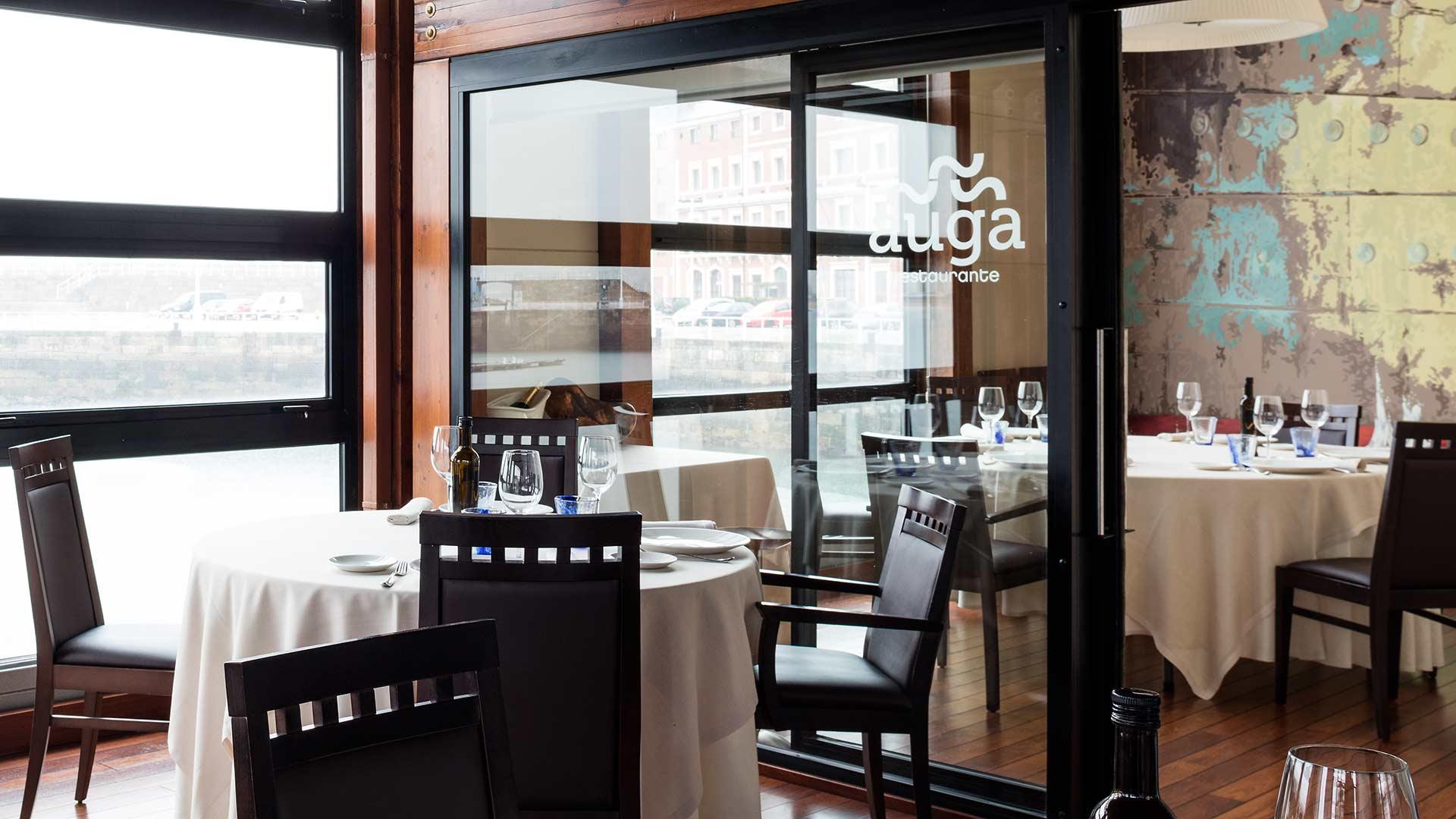 detalle comedor restaurante Auga