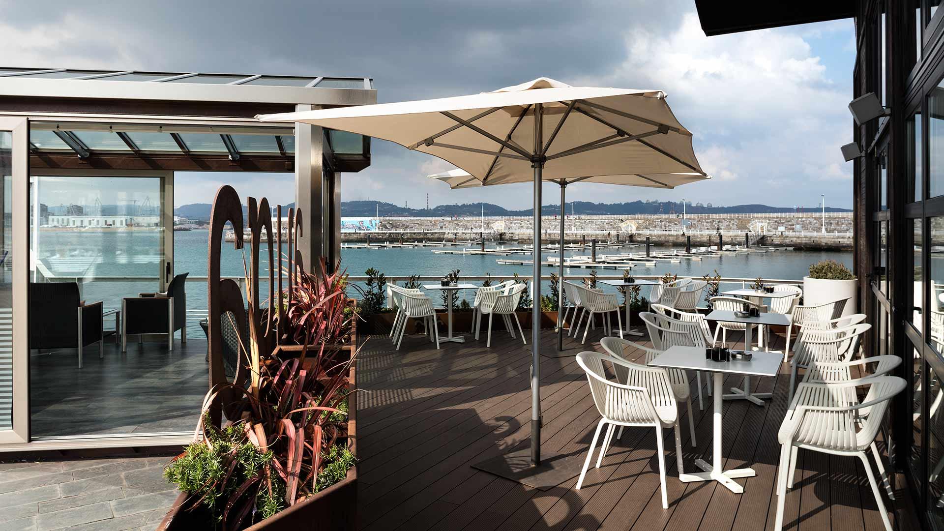 terraza del restaurante Auga